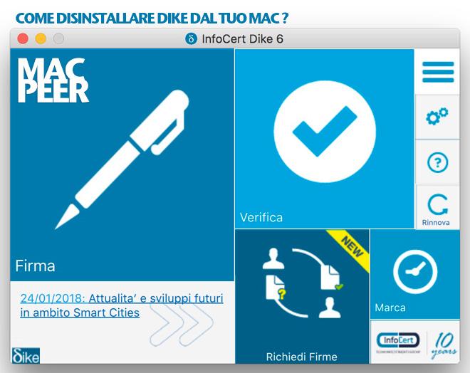 Rimuovere Dike dal Mac. Come disinstallare il software infocert dal Mac