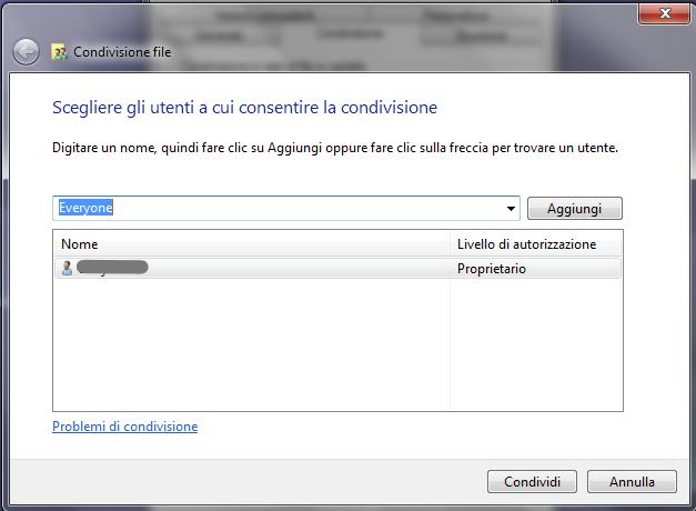 condivisione file tra mac e pc