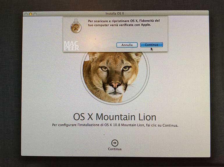 OS X High Sierra. Impossibile installare