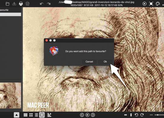 Visualizzatore immagini per Mac Os X. App gratuita.