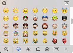 Emoji su Yosemite 10.10.2