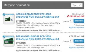 RAM compatibile Crucial